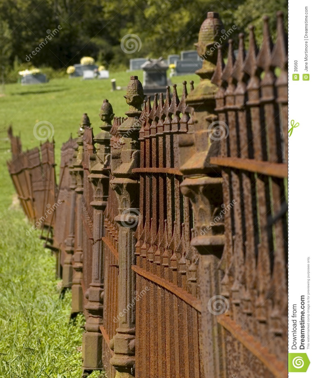 Rusty Iron Cemetary Fence Stock Photo Image Of Rusting
