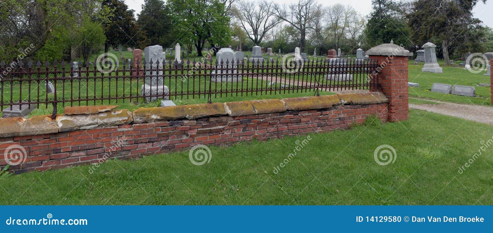 Rusty Iron Cemetery Fence Stock Photo Image Of Cross 14129580