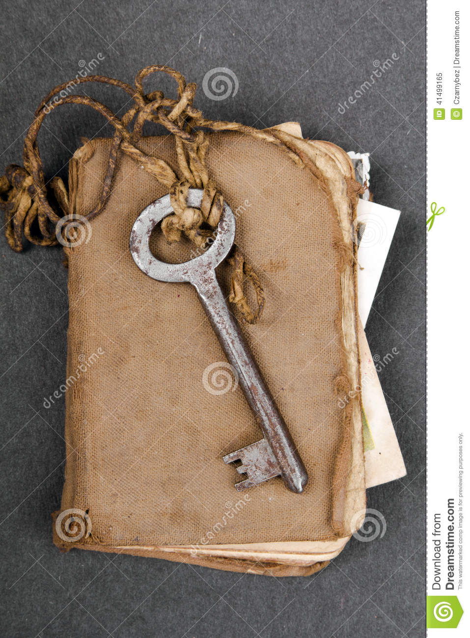 Rusty Key And Old Book On Dark Background Stock Image ...