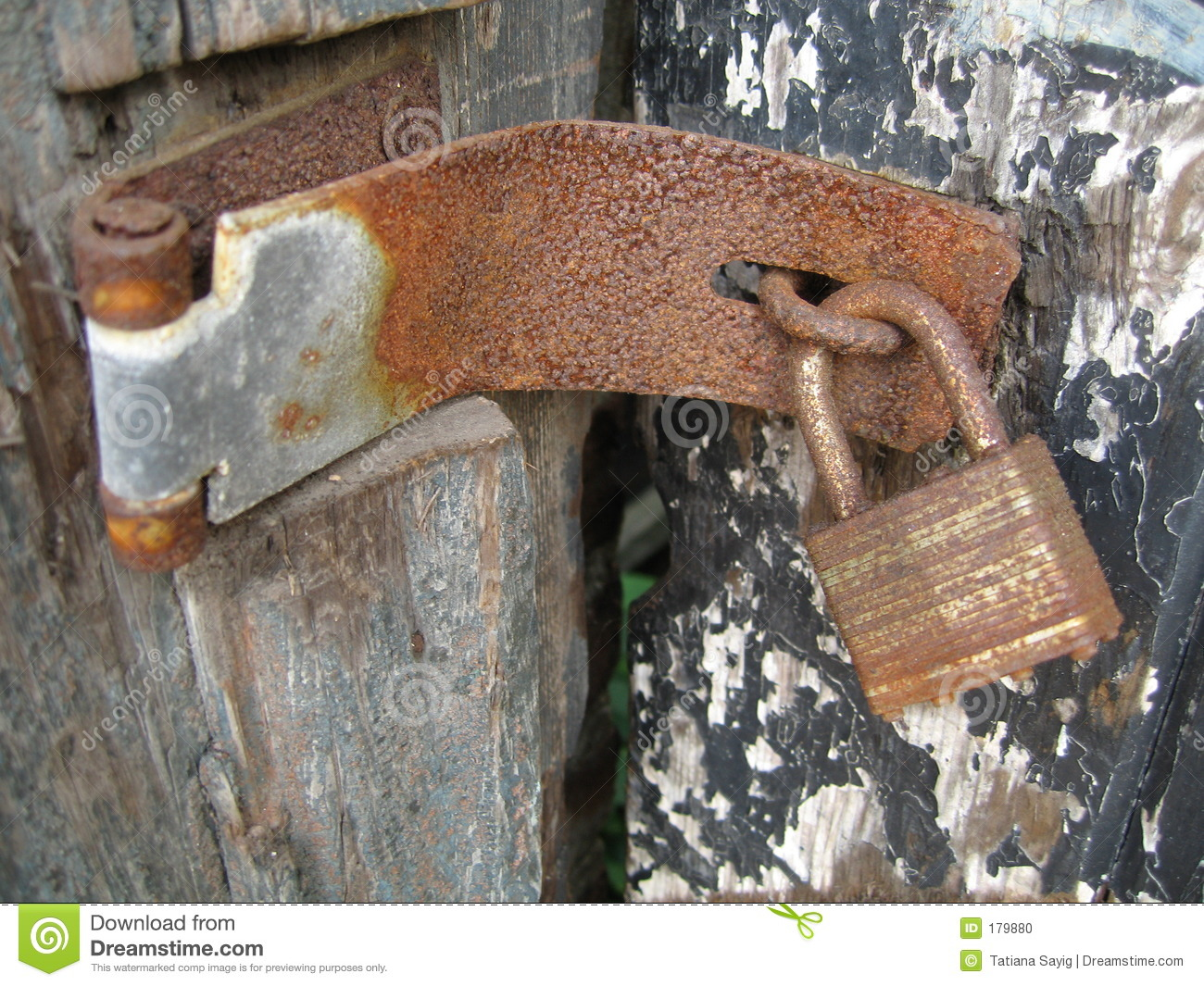 Rusty Lock And Hinge Stock Photo Image Of Peel Secure