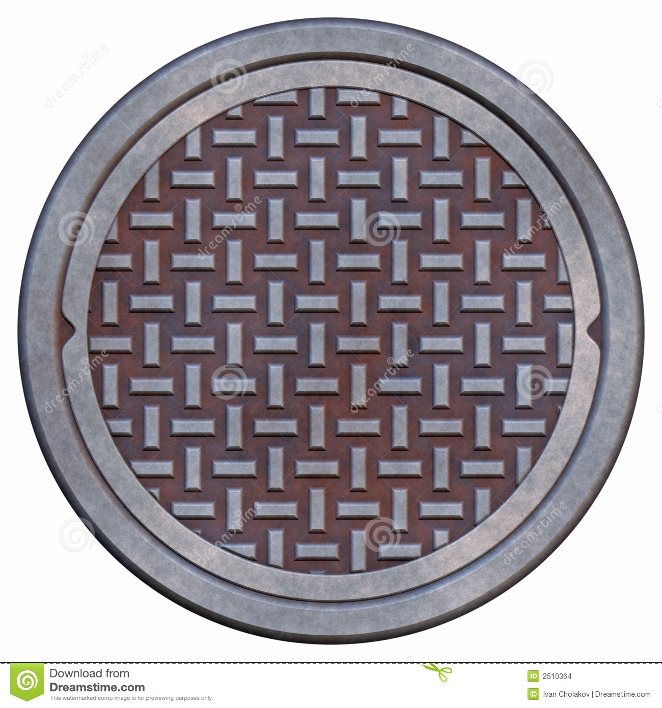 Rusty Manhole Cover Stock Images - Image: 2510364
