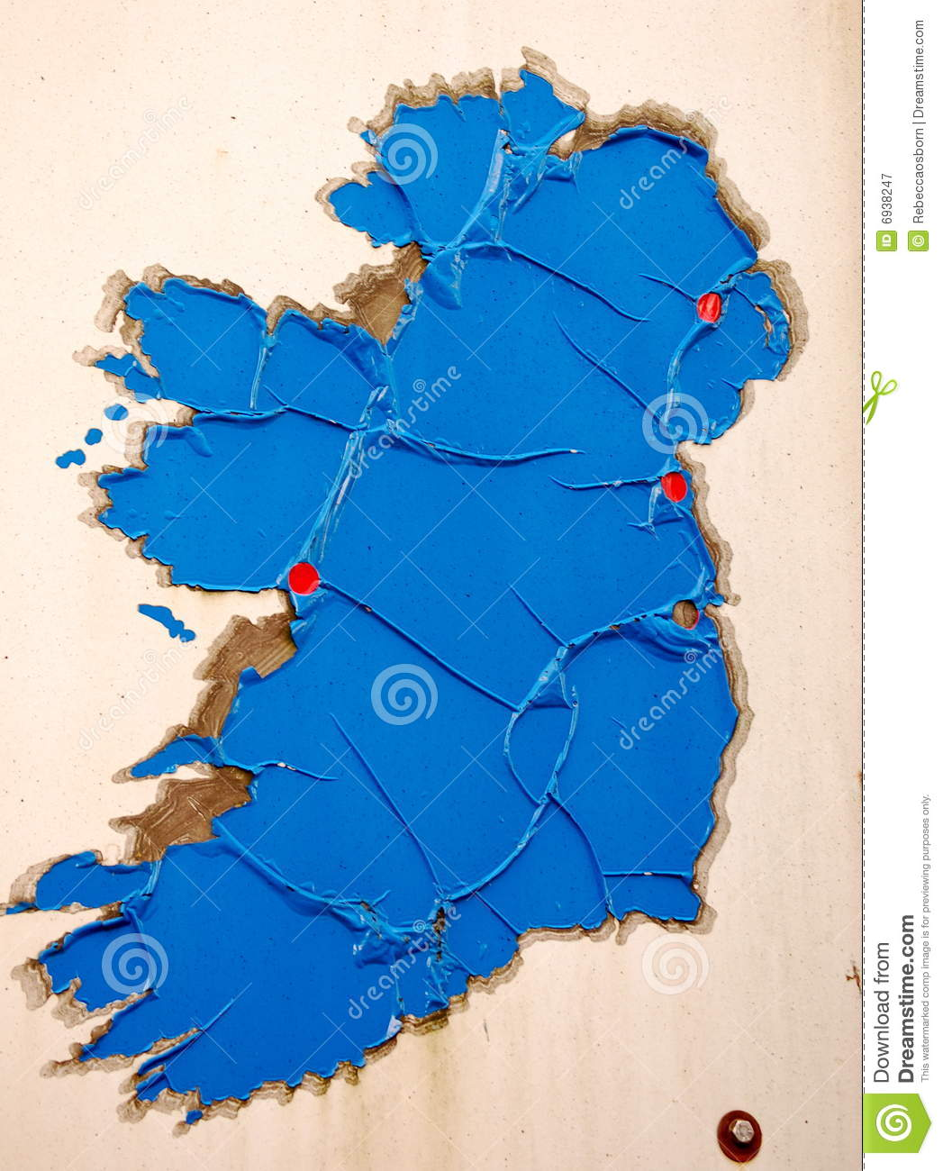Dundalk Map Of Ireland.A Rusty Map Of Ireland Stock Image Image Of Ancient 6938247