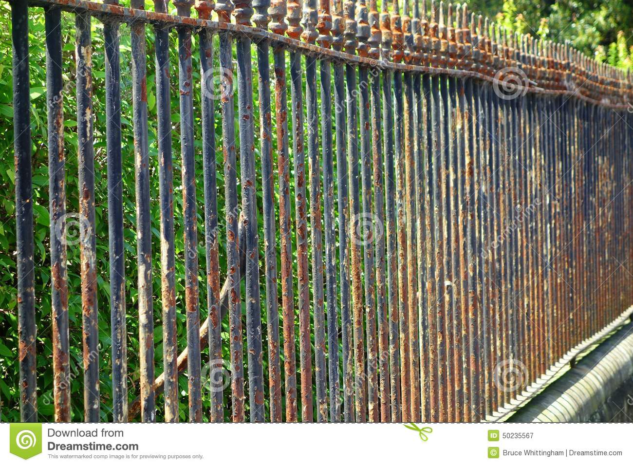 Rusty Metal Fence Stock Image Image Of Paint Boundary