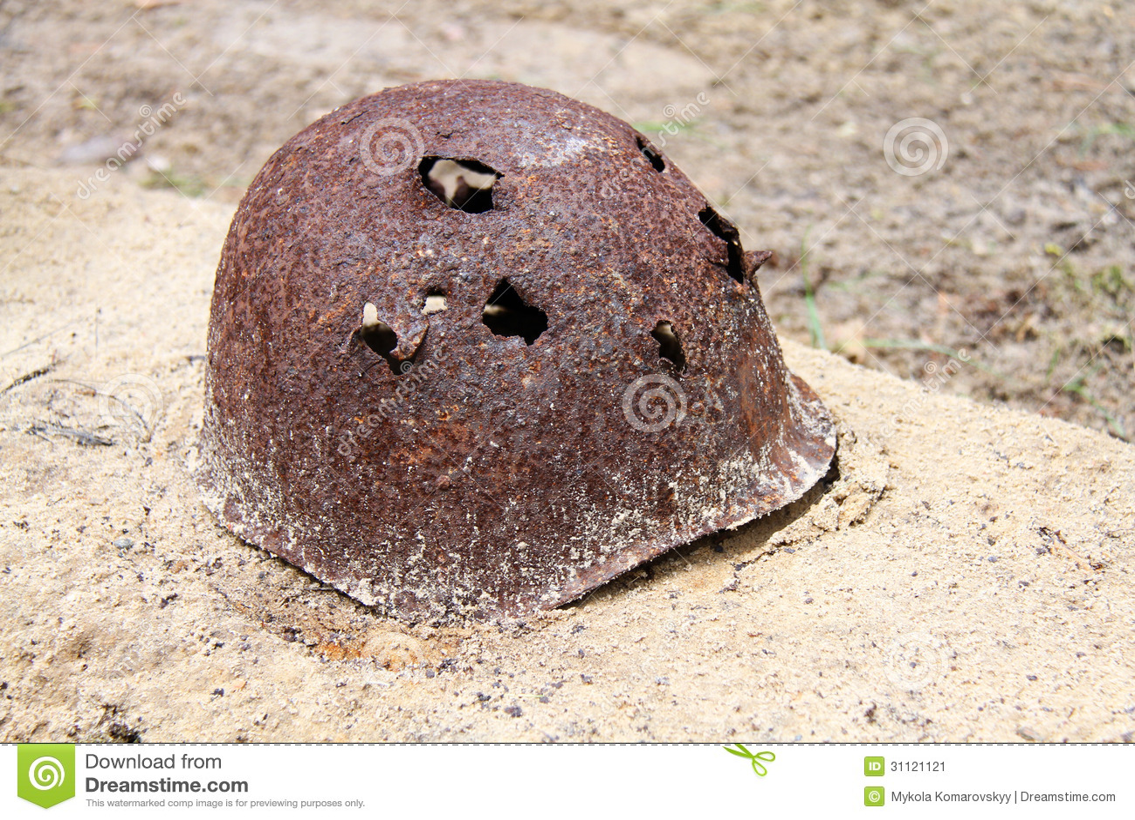Rusty Military Helmet Stock Image Image 31121121