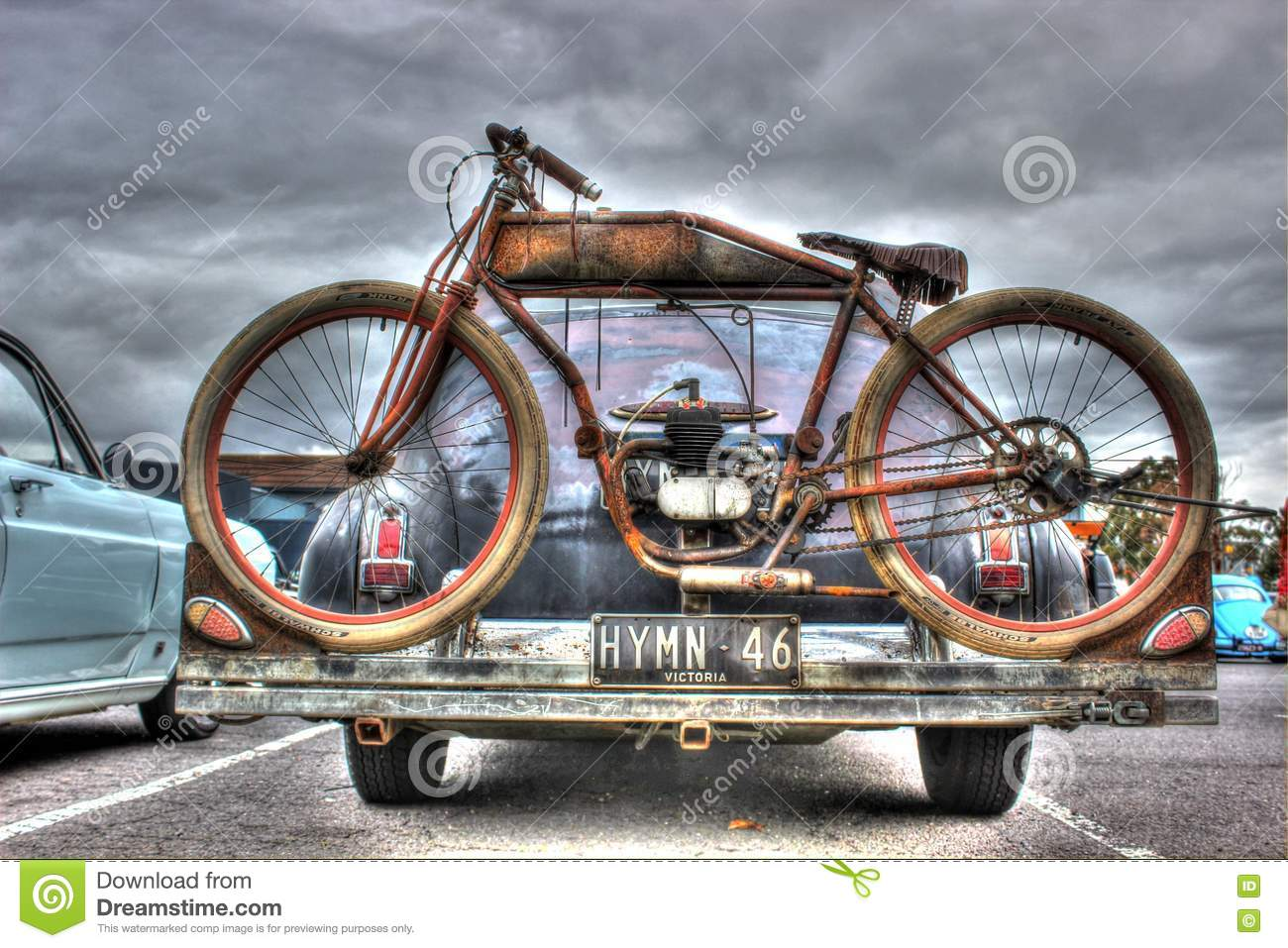 Rusty old bike editorial image image of door skies for Is a bicycle considered a motor vehicle