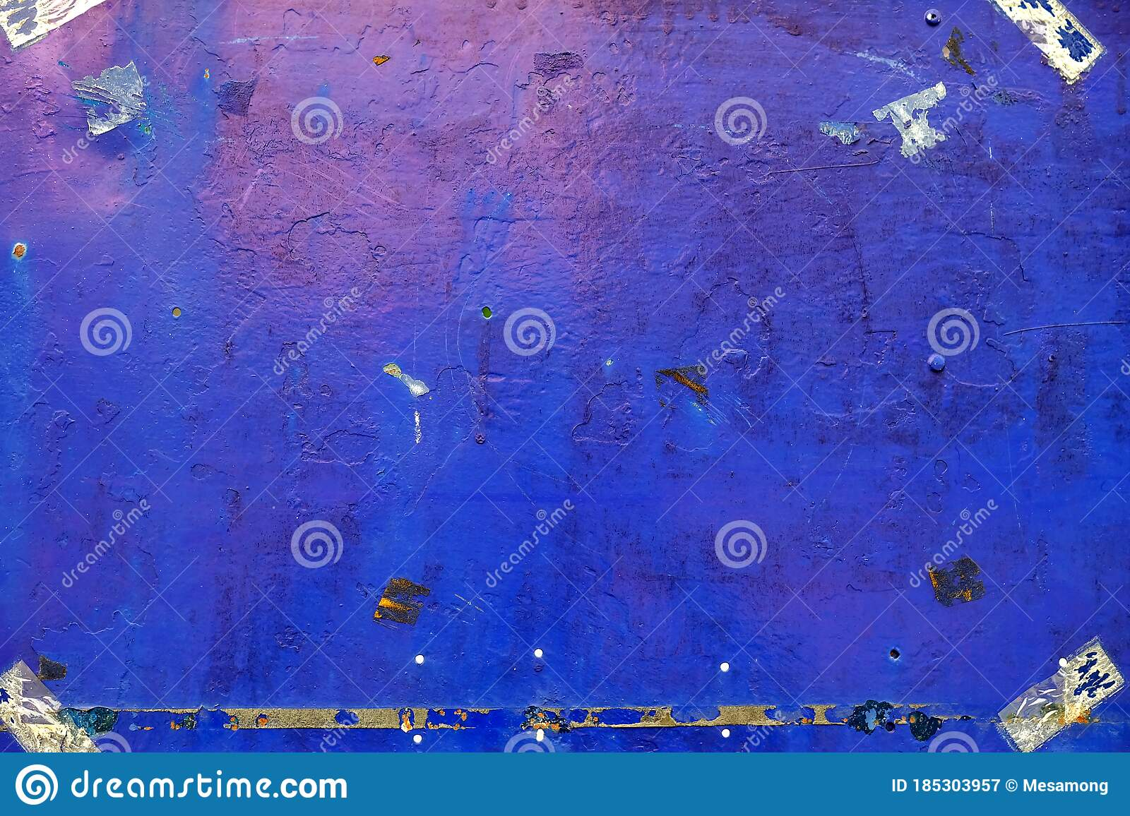 Rusty Old Blue Painting On Metal Plate Background Suitable For Wallpaper Backdrop Mockup And Product Presentation Stock Image Image Of Industry Cracked 185303957