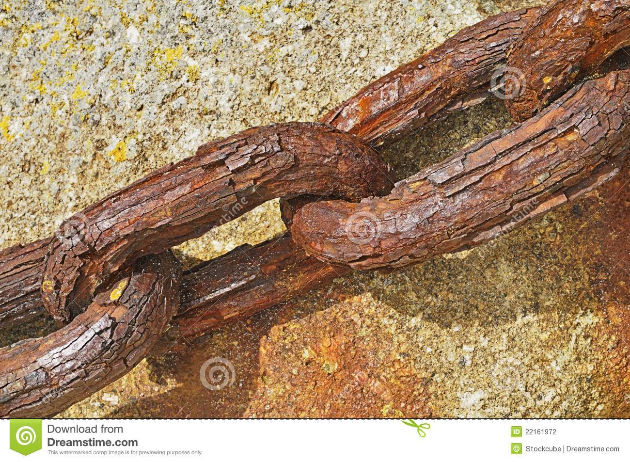 Rusty Old Chain stock photo. Image of link, photo, secure ...
