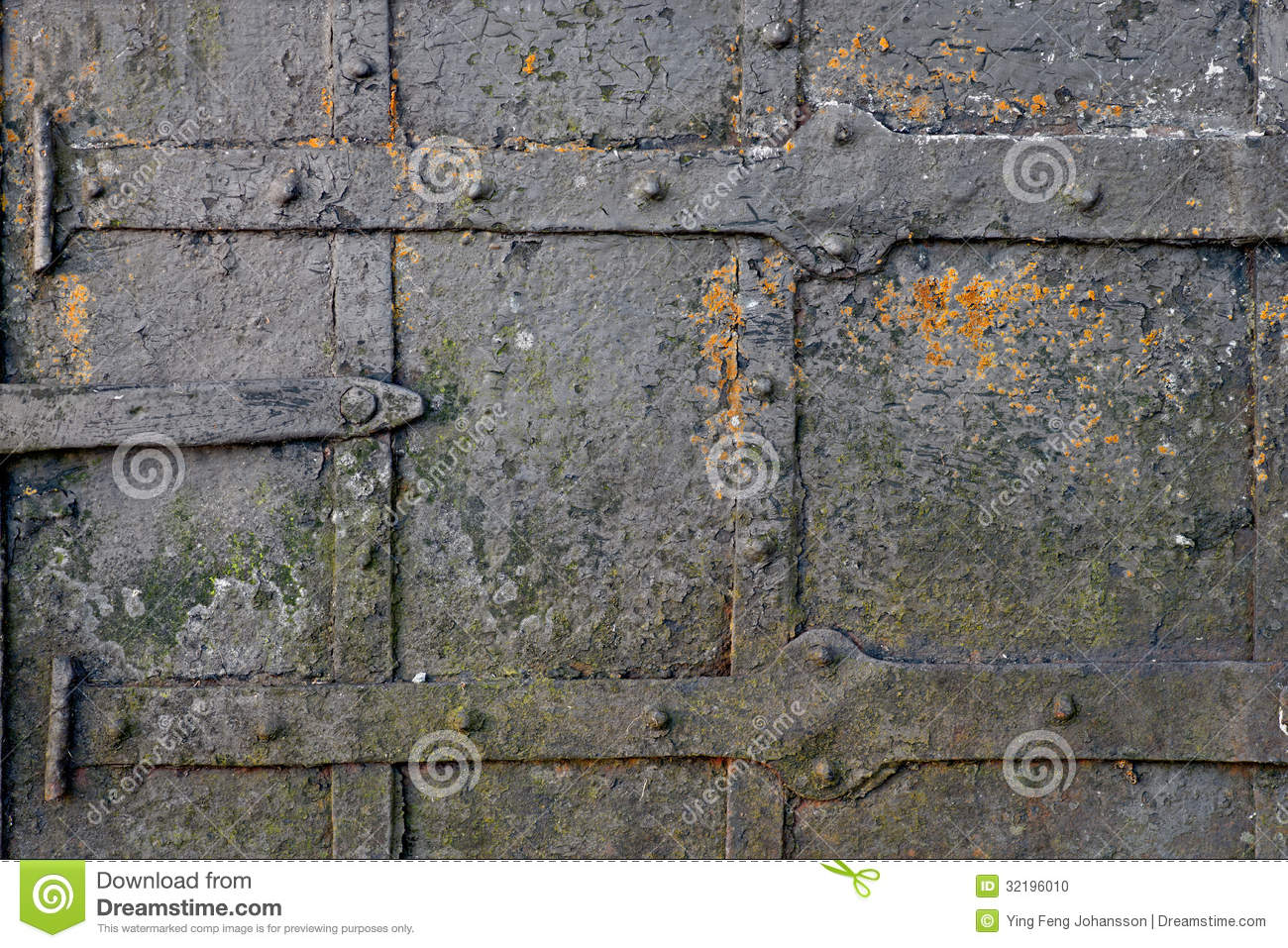 Rusty Old Metal Door Stock Photo Image 32196010