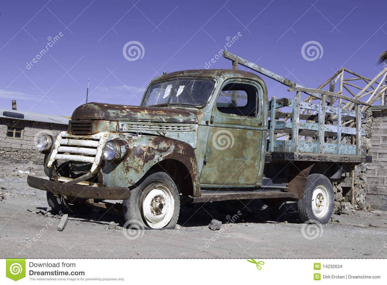 Rusty Old Timer Pickup Truck Car Stock Photo - Image of flat, rust ...