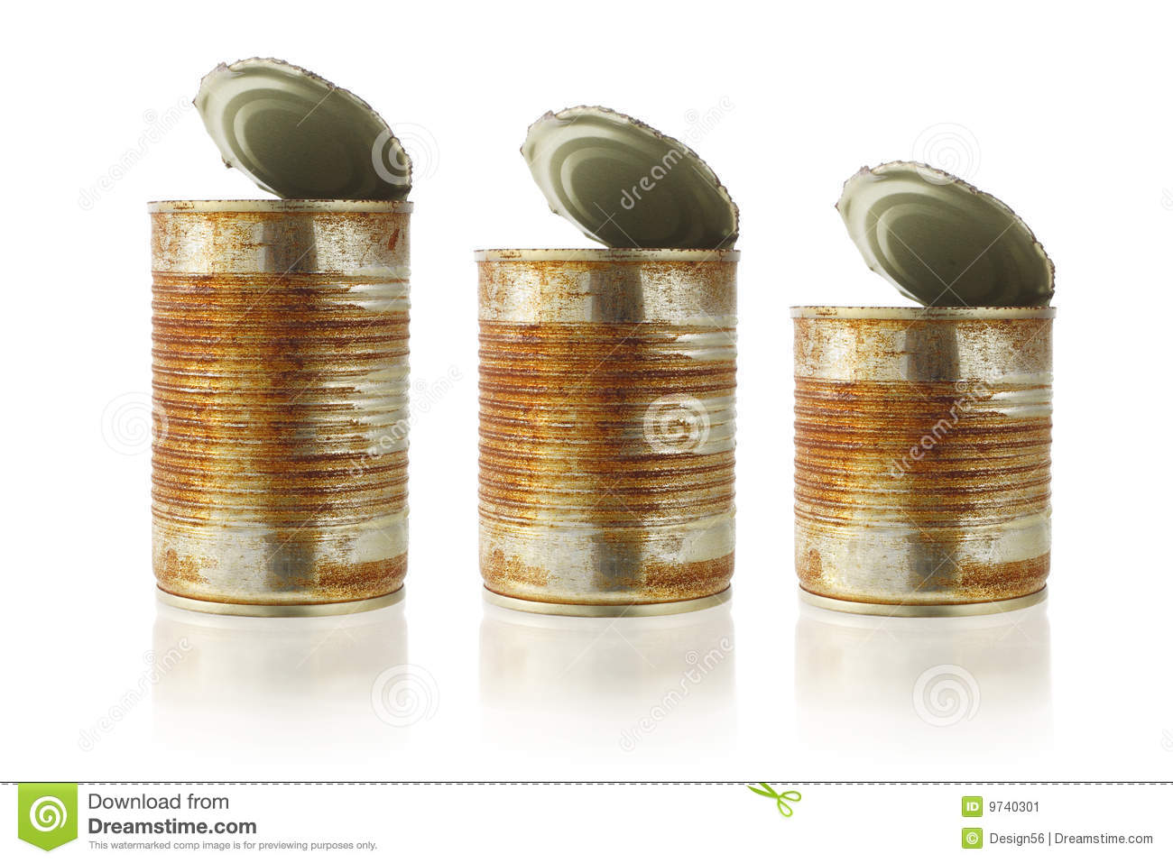Rusty Old Tin Cans Stock Image Image Of Container