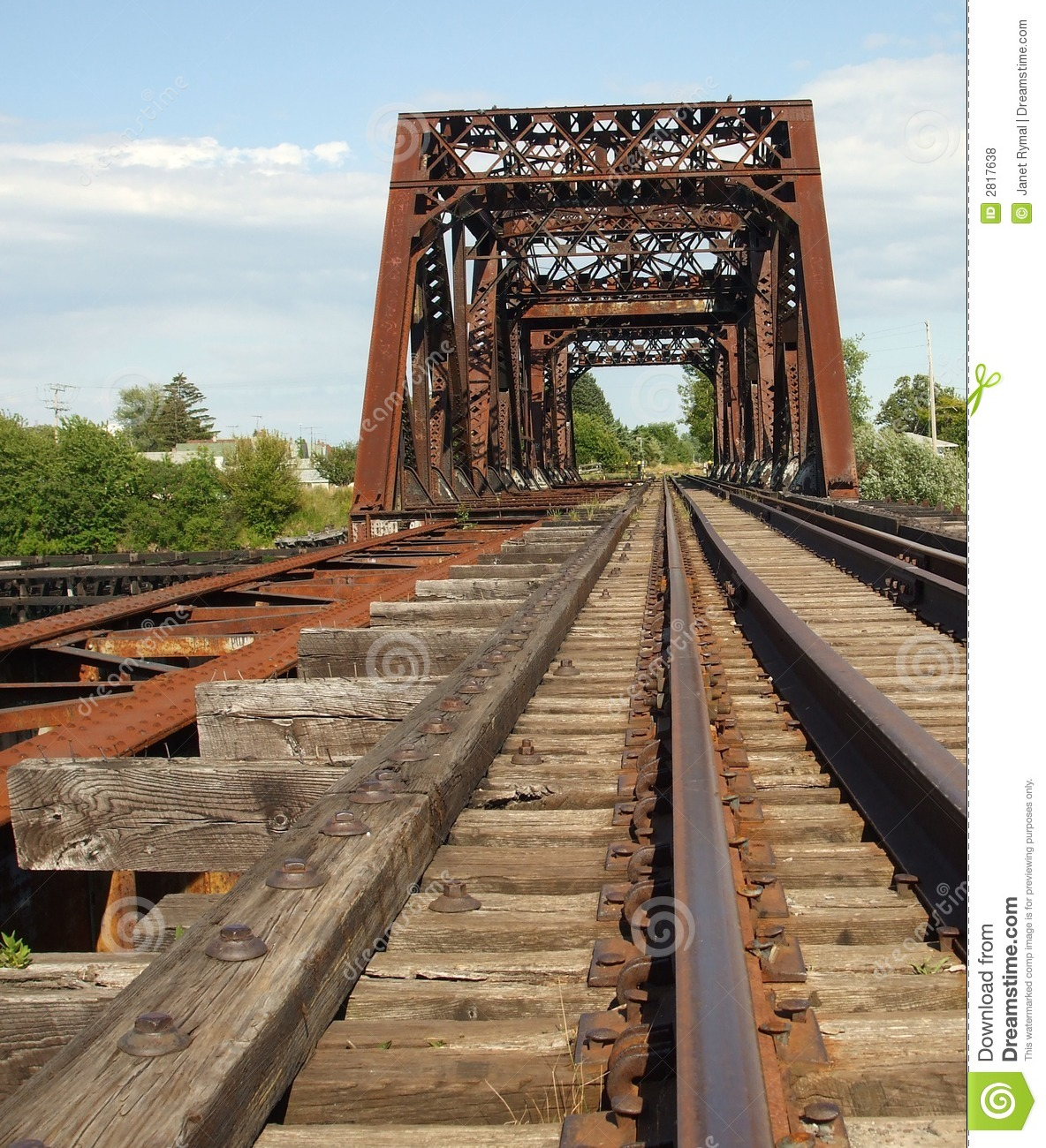 Rusty Old Train Bridge Royalty Free Stock Photos - Image: 2817638