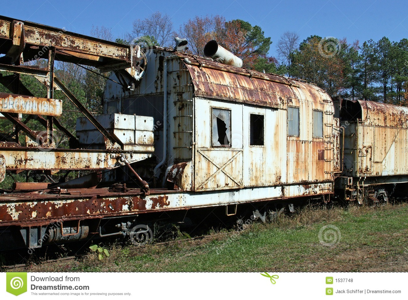 Rusty Old Train Cars Stock Photo. Image Of Rusty, Engine