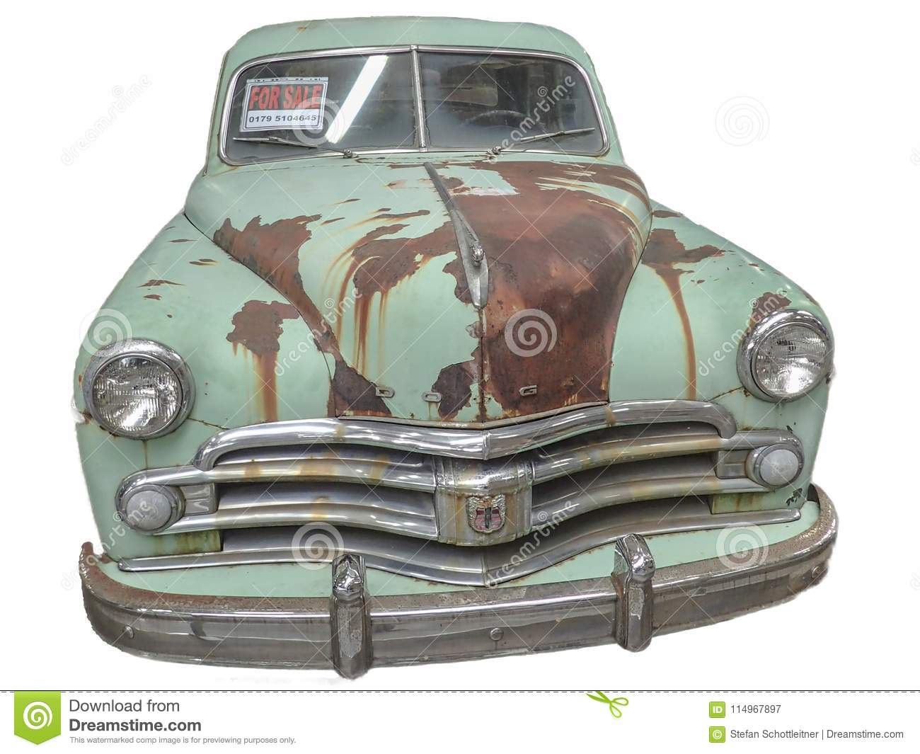 05cb01b2af Rusty Oldtimer With White Backround Editorial Photography - Image of ...