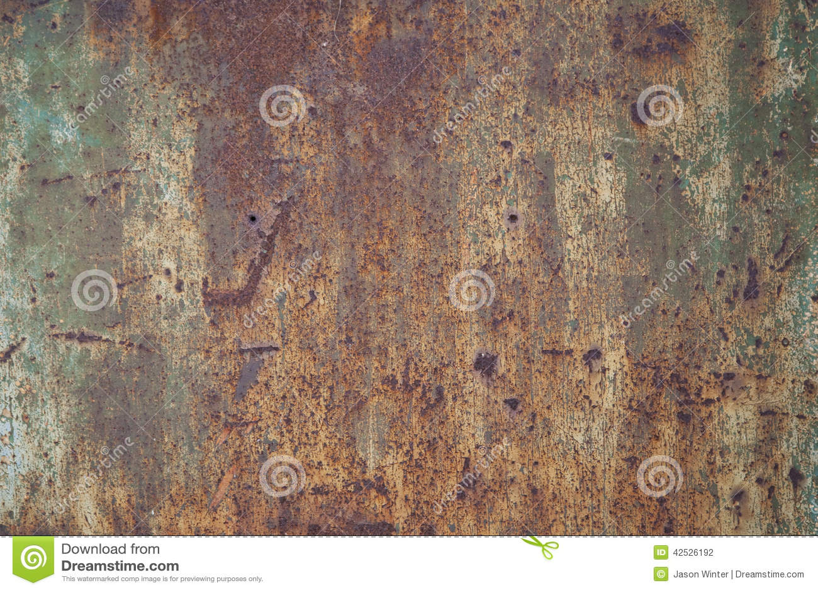 Rusty panel metali