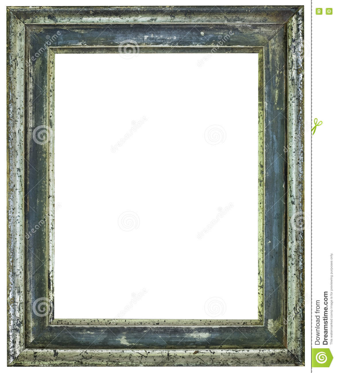 Rusty Picture Frame Cutout stock photo. Image of decorative - 75508340