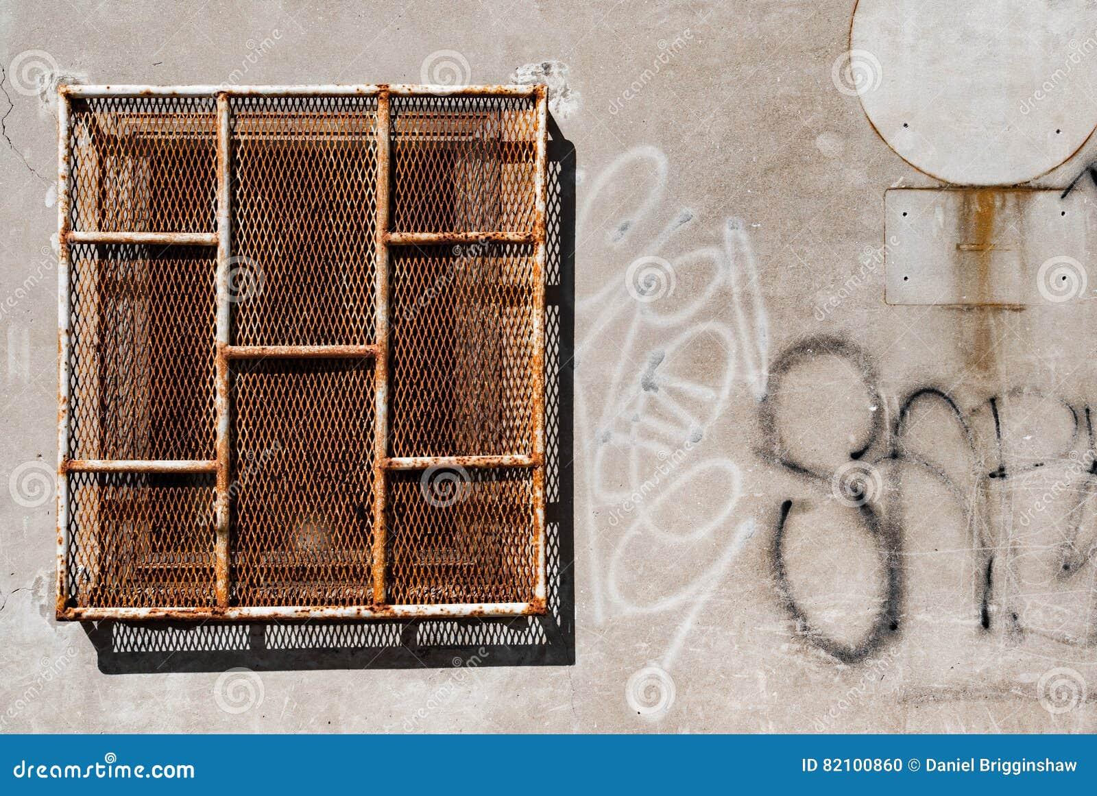 Rusty Prison Window