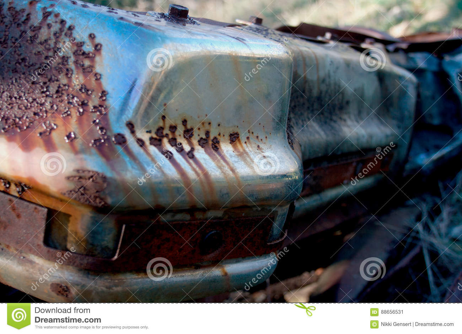 Rusty Remains eines Automobils
