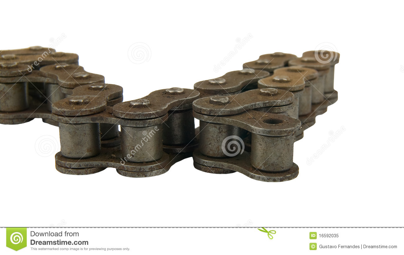 Rusty Roller Chain Belt Royalty Free Stock Photo - Image ...