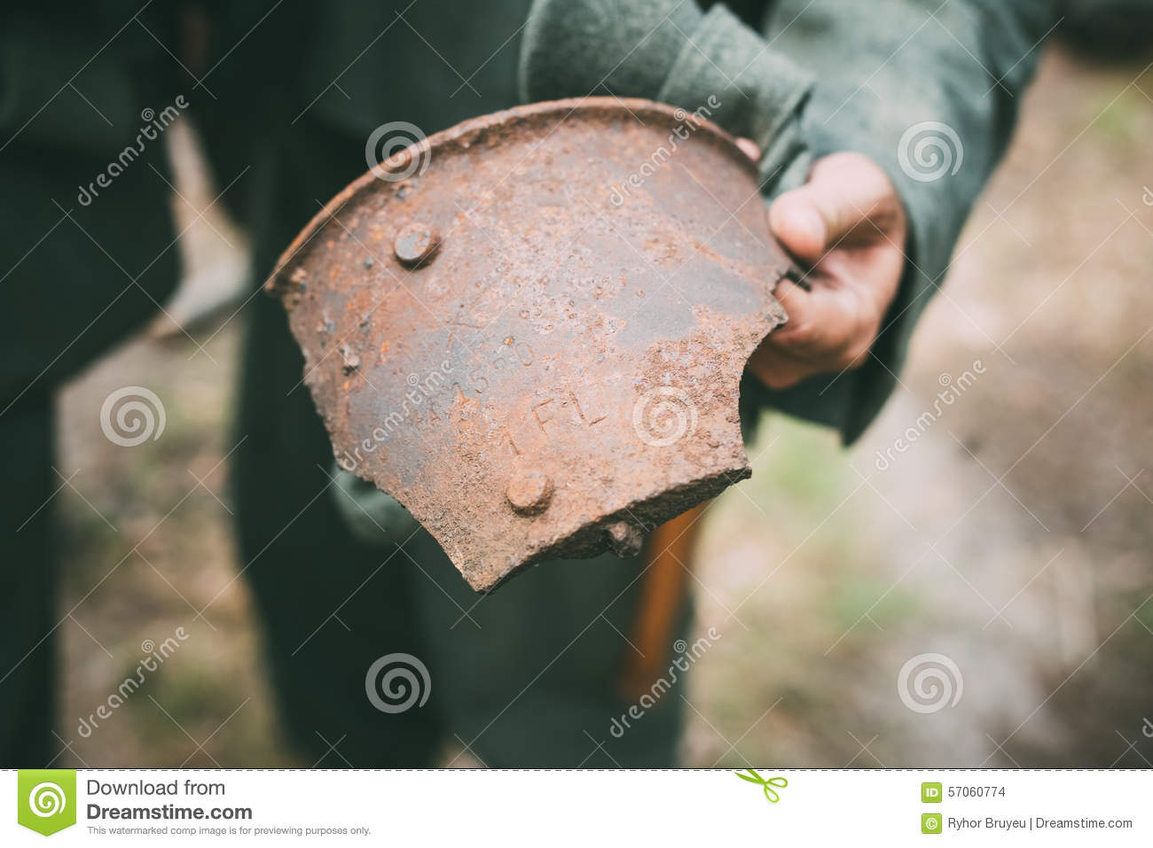 Rusty Shell Fragment Found In Belarusian-Bos