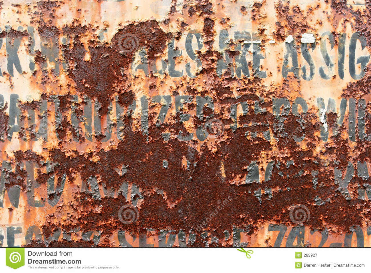 Rusty Sign Royalty Free Stock Photography Image 263927