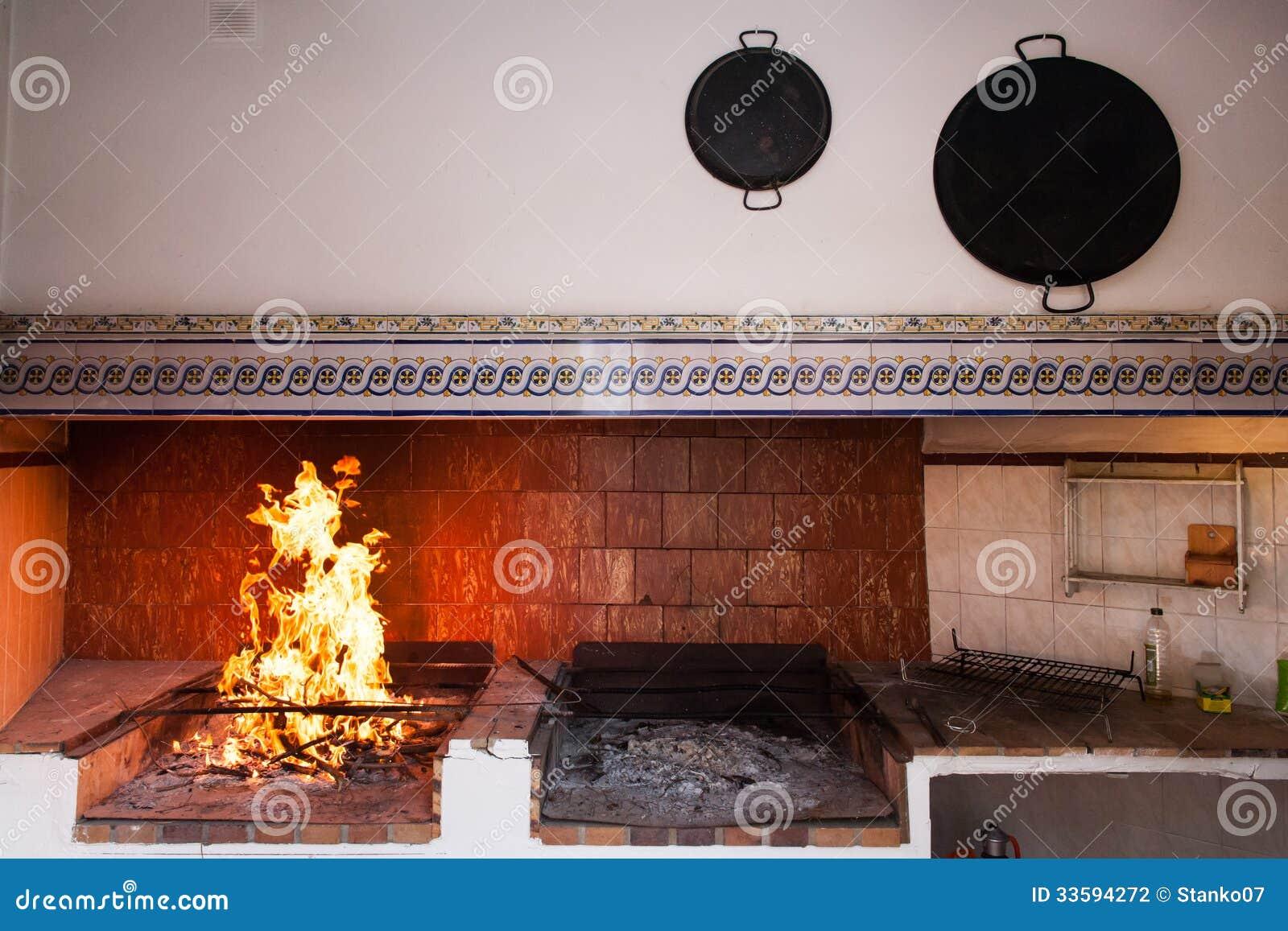 Rusty Spanish Country Kitchen. Stock Photo - Image: 33594272