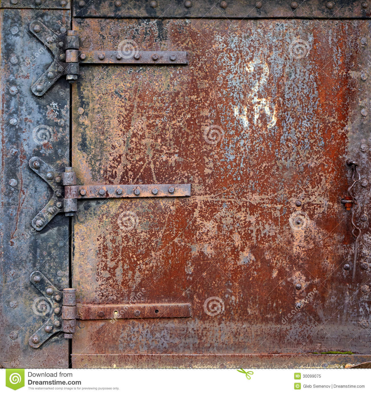 Rusty Door rusty steel door hinges royalty free stock photo - image: 30185395