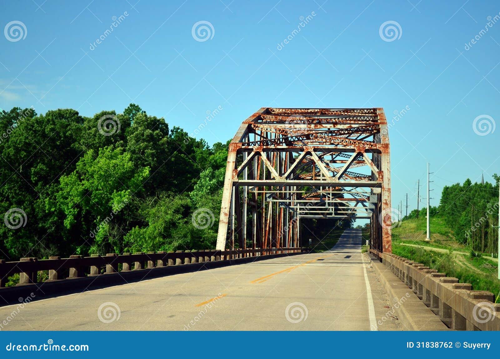 Metal Covered Bridges : Rusty steel truss covered bridge stock photography image