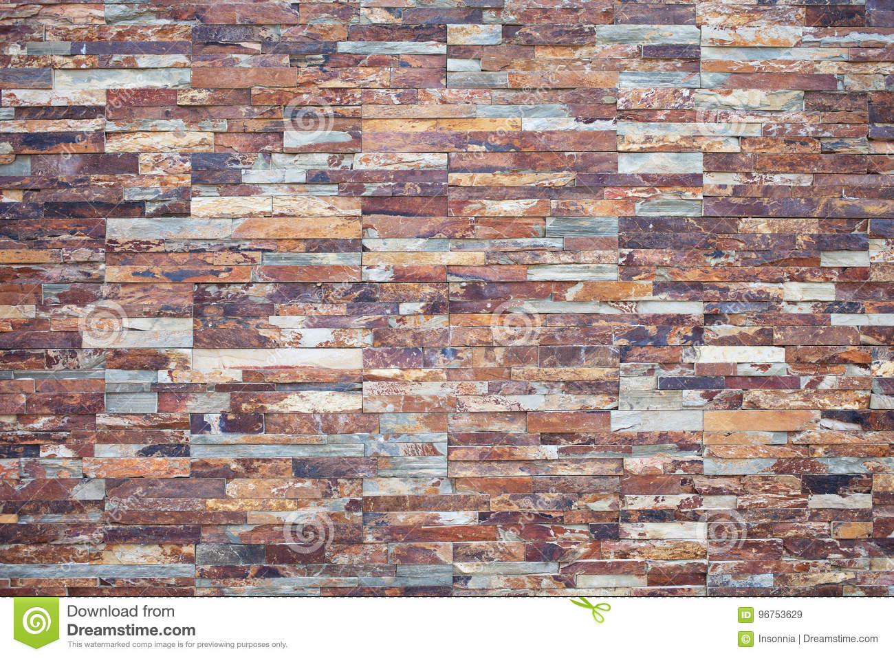 Rusty Stone Stone Veneer For Exterior Wall Decor Stock Image Image Of Level Brown 96753629
