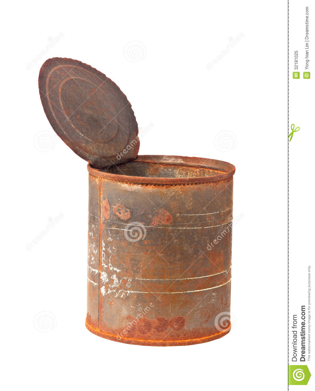 Old Rusty Tin Can Full Of 20 Pound Notes Stock Images ... |Rusty Tin