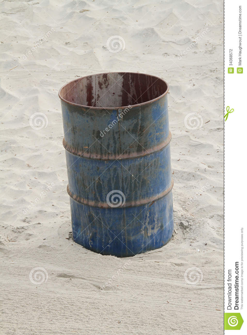 Rusty Trashcan Stock Photography Image 34368572