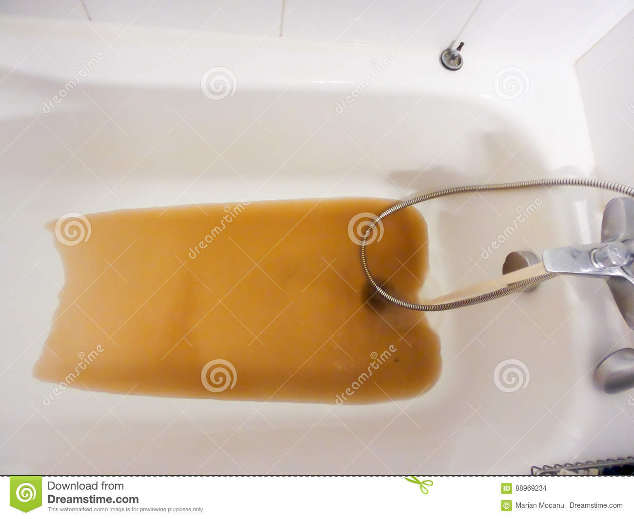 Rusty Water Running From A Faucet Stock Image - Image of equipment ...