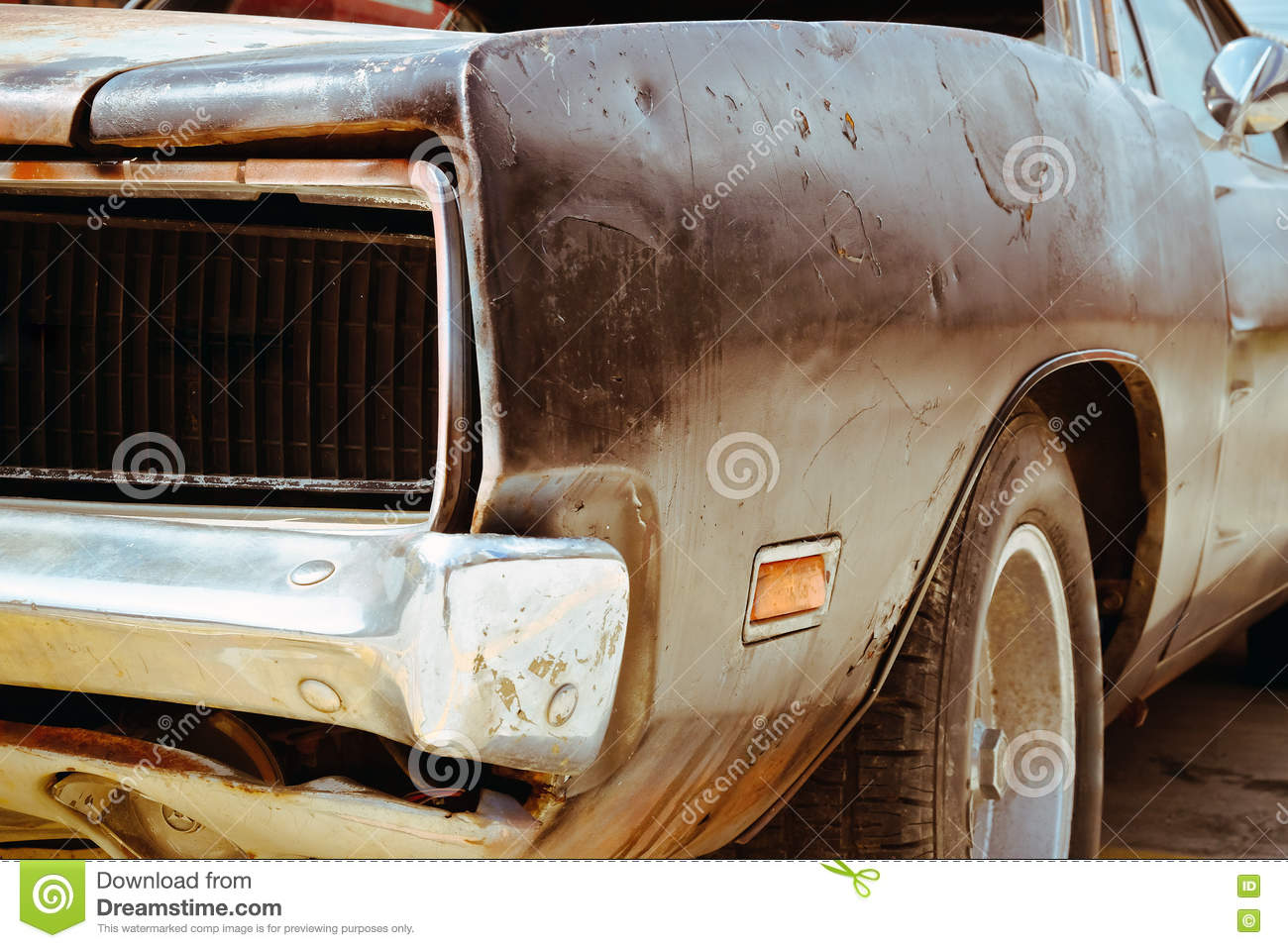 rusty wrecked car royalty free stock photo 46466373. Black Bedroom Furniture Sets. Home Design Ideas