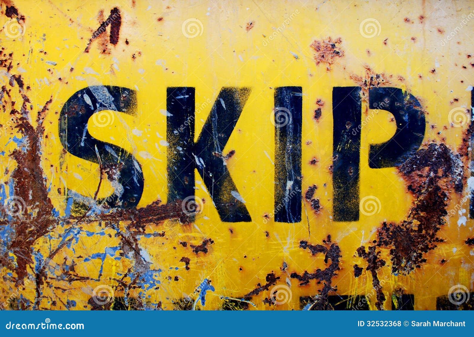 Rusty yellow skip