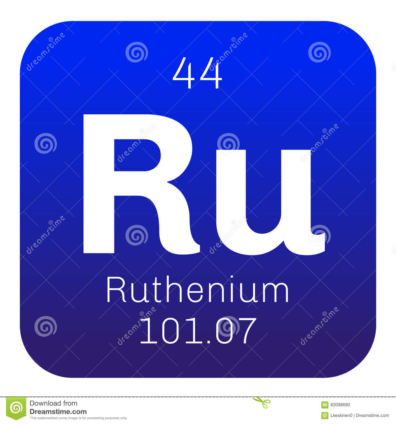 Ruthenium Chemical Element Stock Vector Illustration Of Physics