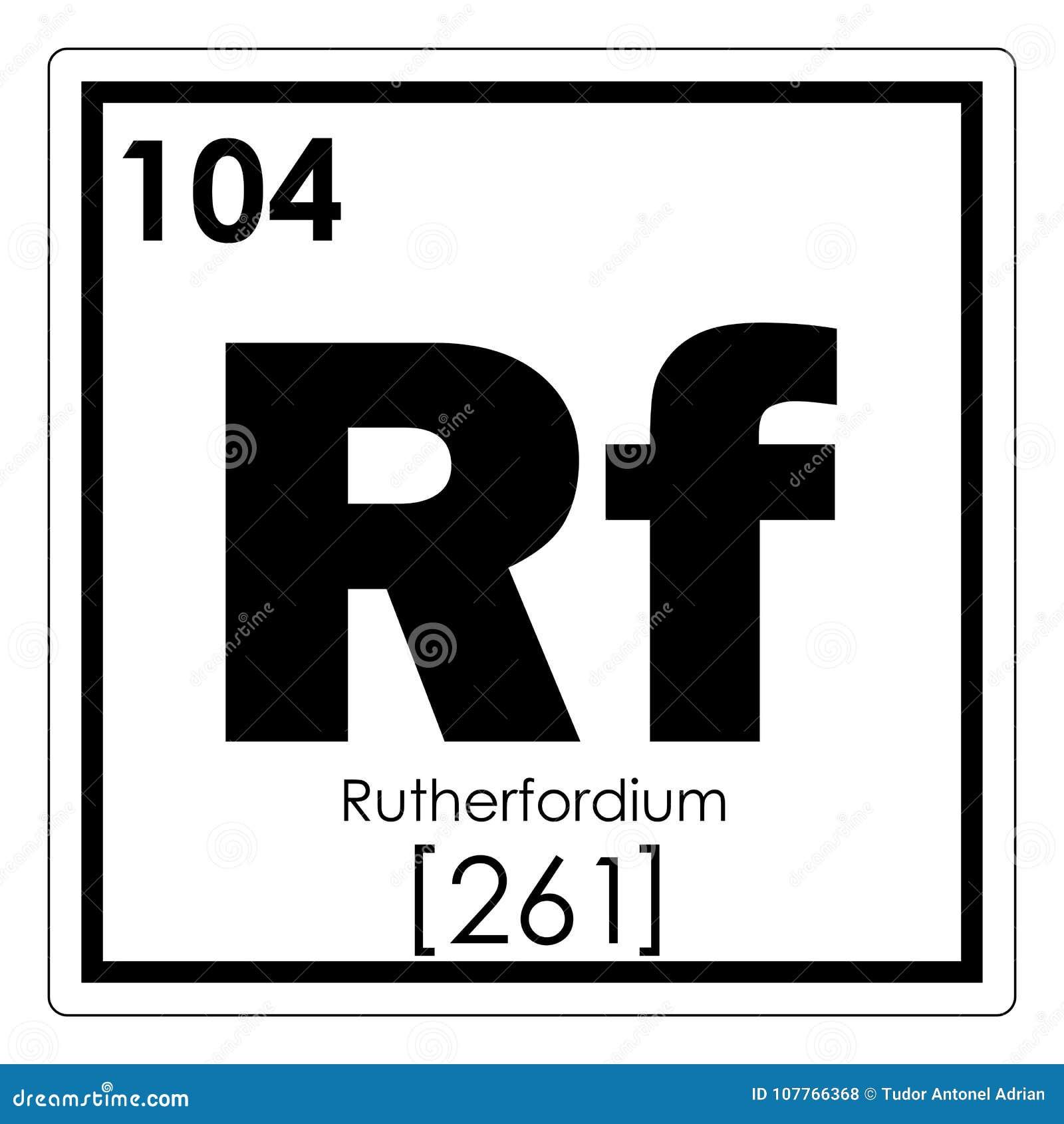 Rutherfordium Chemical Element Stock Illustration Illustration Of