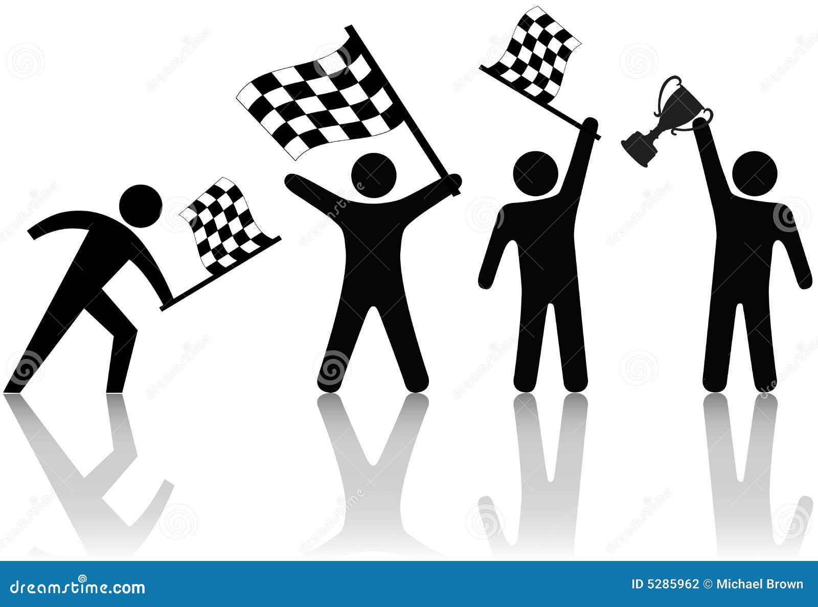 Rutig wave för trofé för flaggafolksymbol