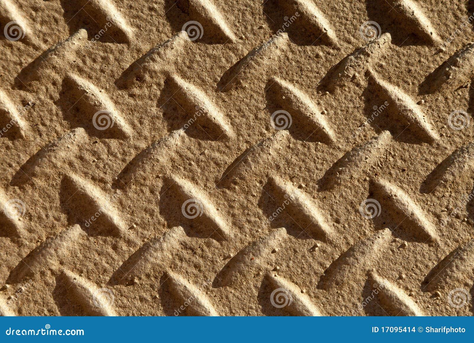 Rutschfeste Oberfläche auf Metallgehweg