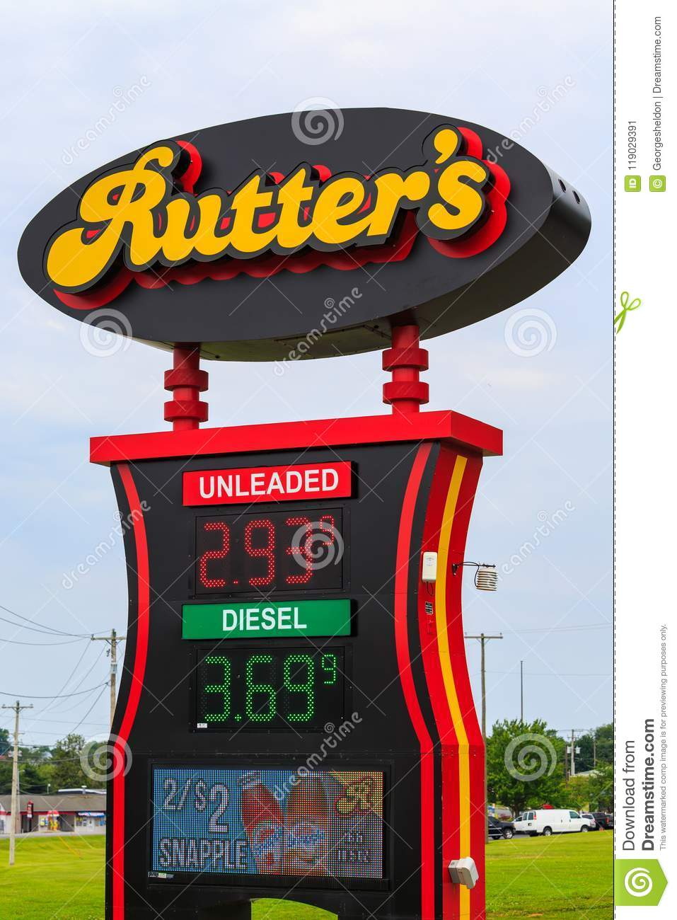 Gas Prices In West Virginia >> Rutters Gas Prices Sign Editorial Photo Image Of