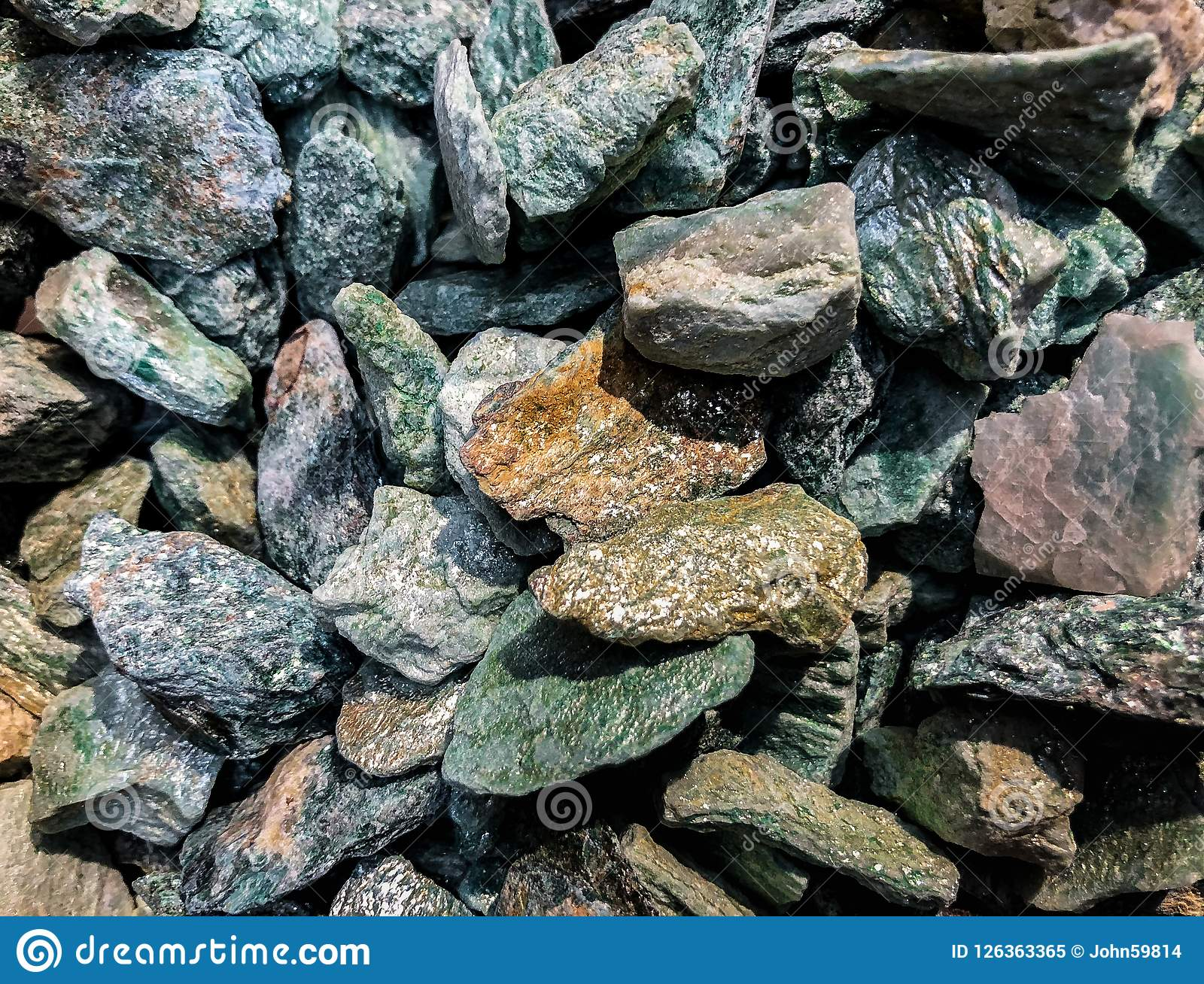 Ruwe Geweven Minerale Stenen in Massa