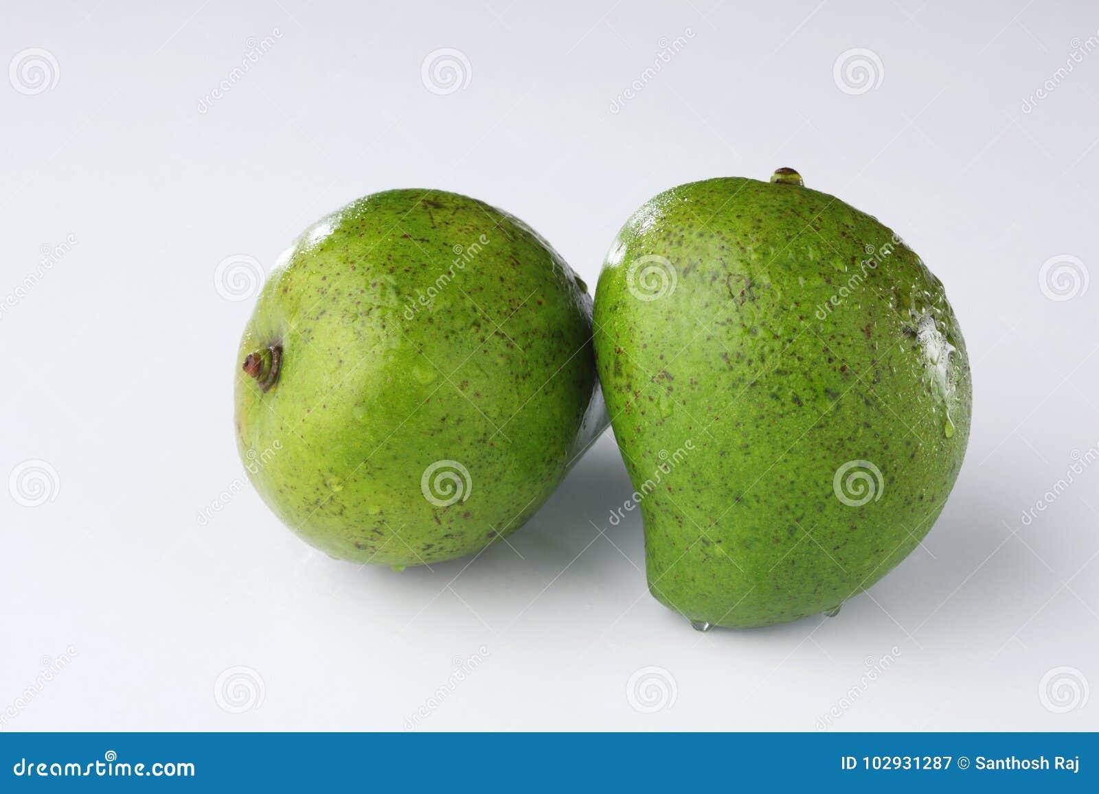 Ruwe groene mango