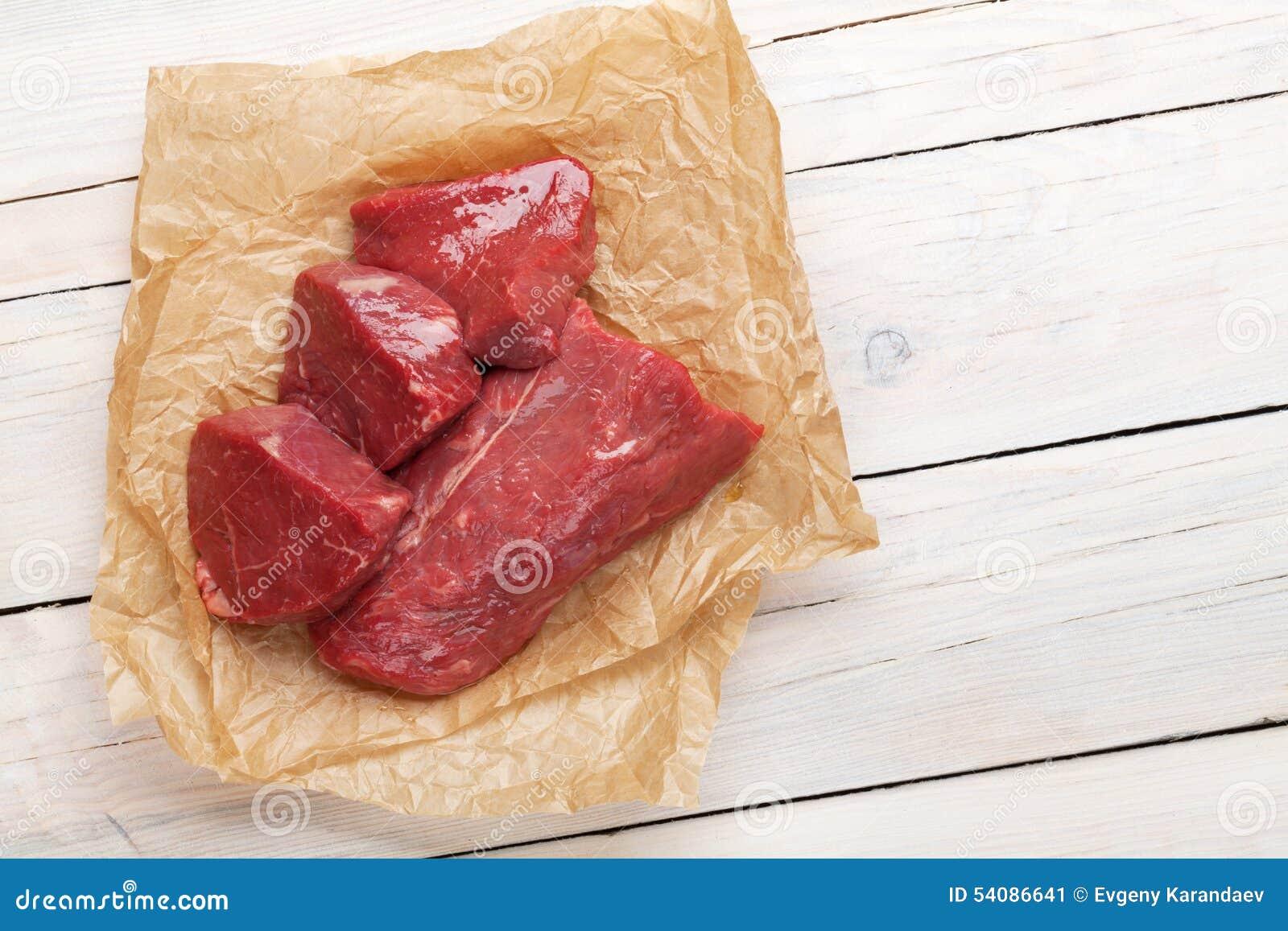Ruwe het lapje vleesstukken van het filetrundvlees