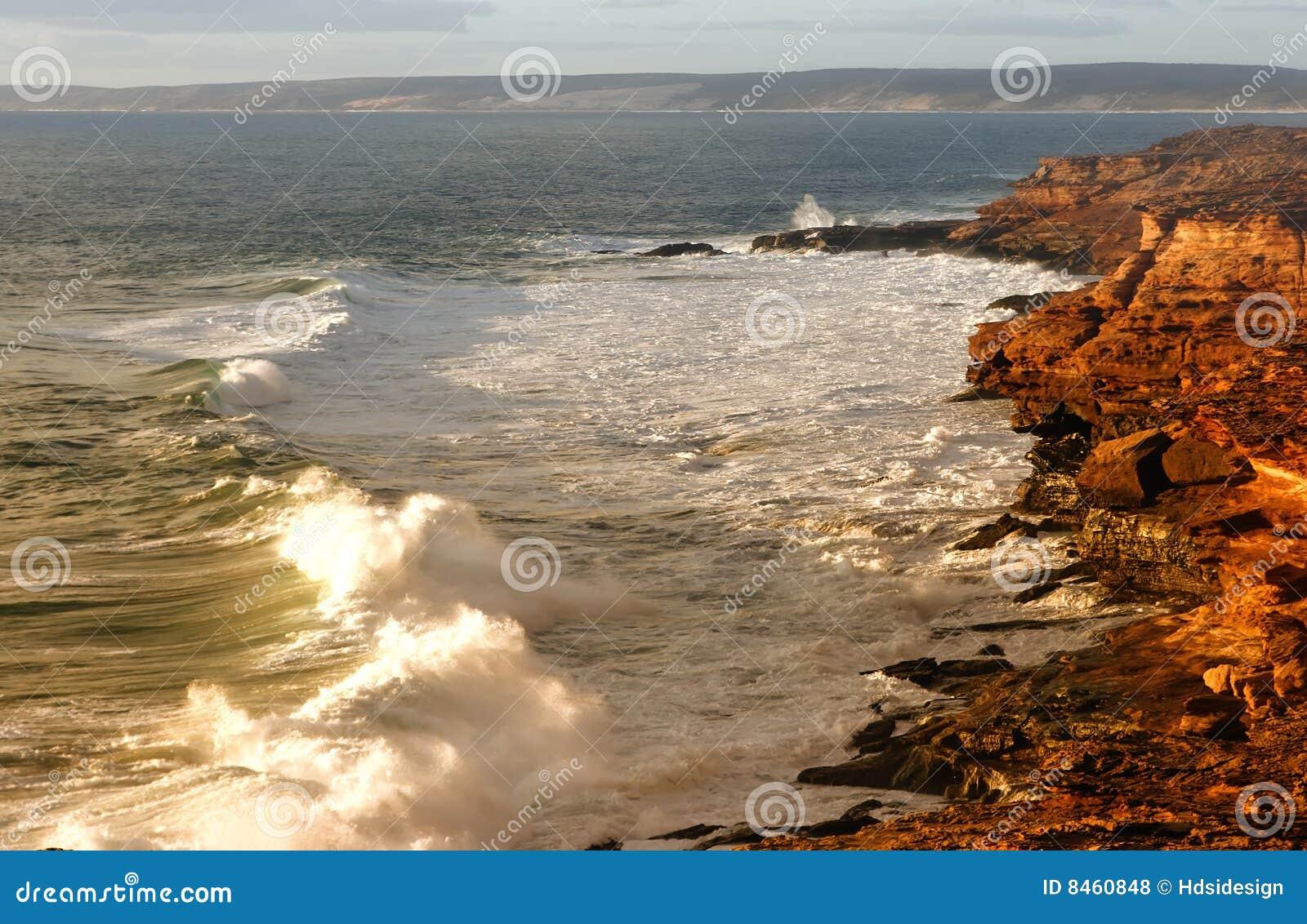 Ruwe kustlijn toneel