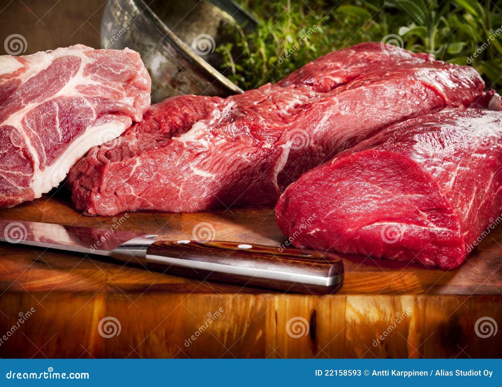Ruwe vleesselectie