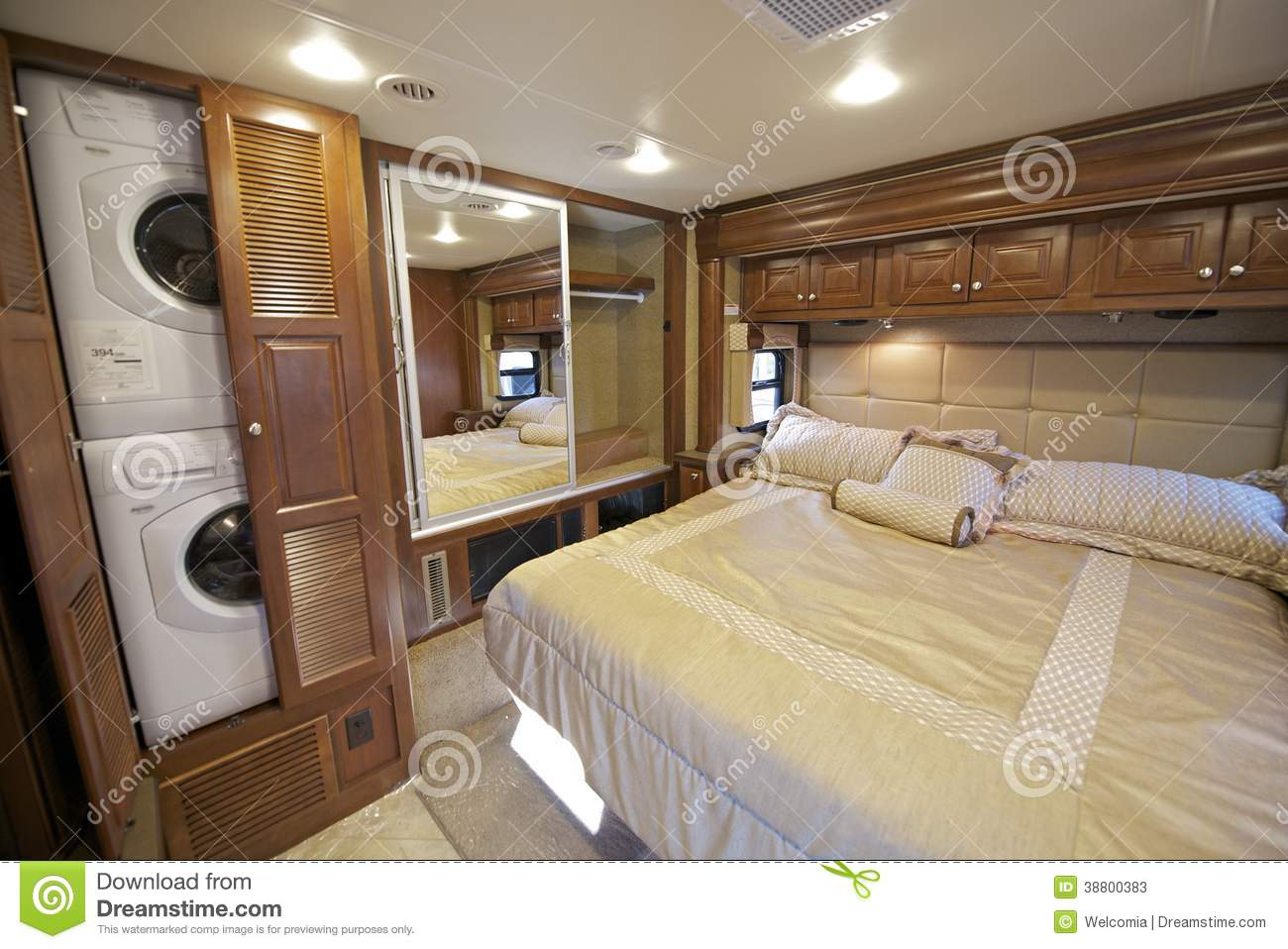 Rv bedroom stock photo image 38800383 for Rv with 2 master bedrooms