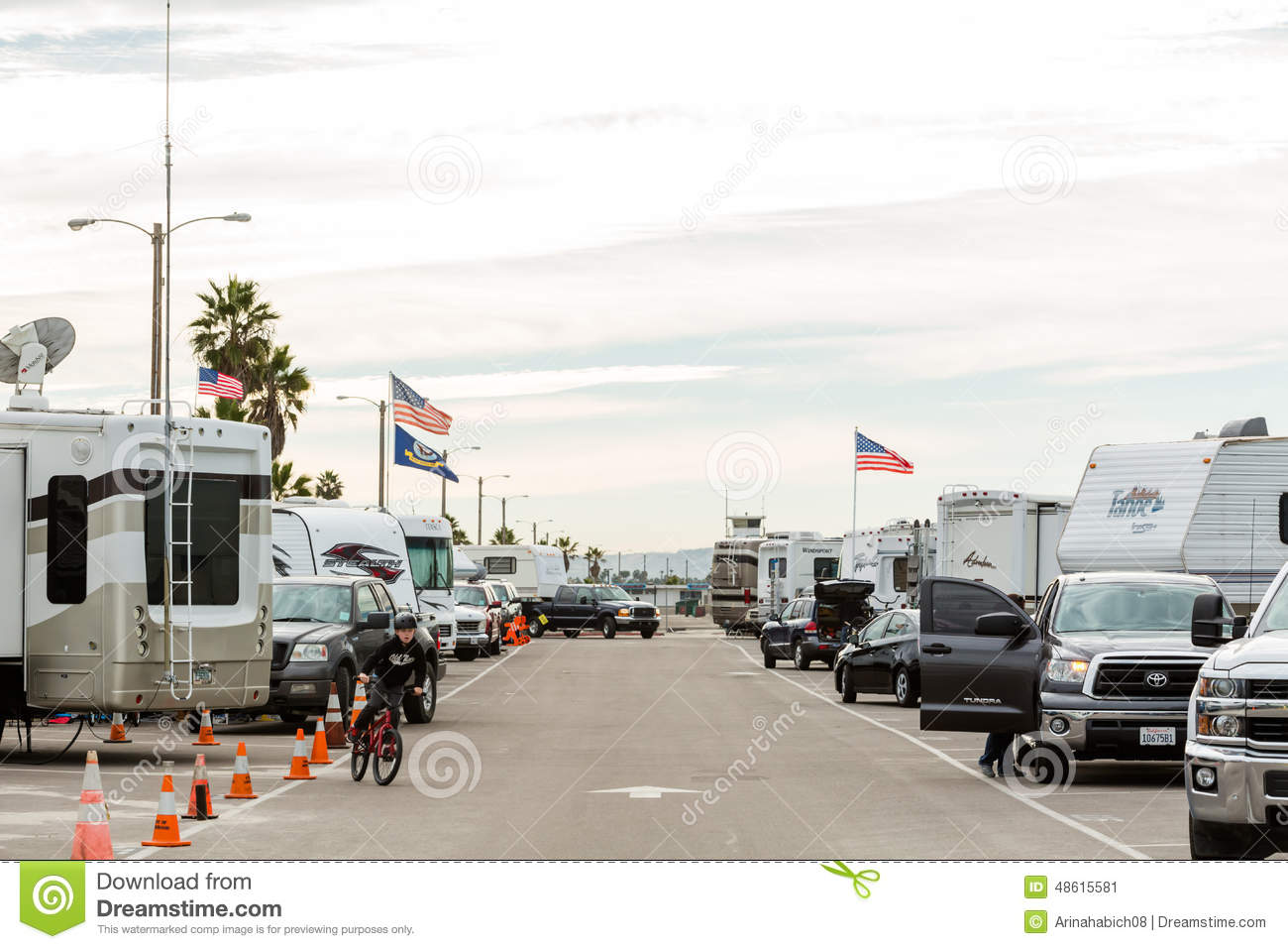 RV camping editorial photo  Image of site, sports, luxury