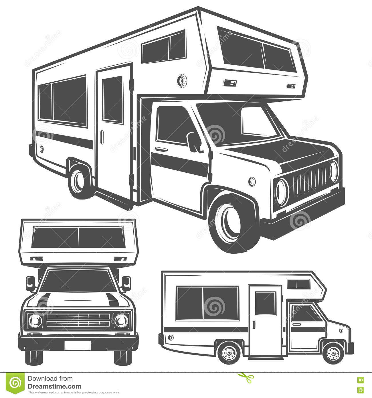 Camper Stock Illustrations – 4,272 Camper Stock Illustrations ...