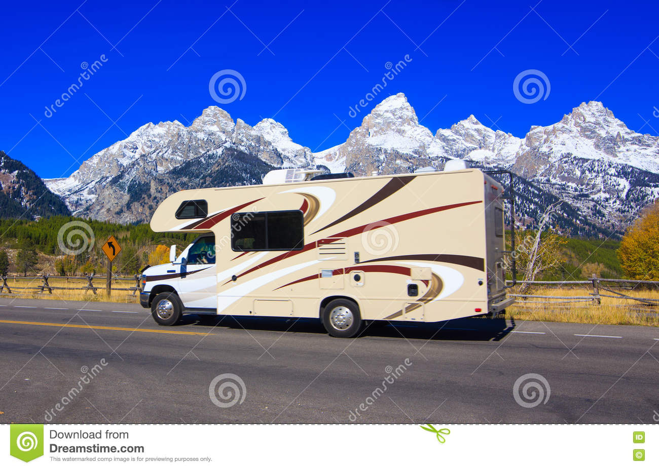 Rv stock image image of teton america jackson wyoming for Wyoming valley motors used cars