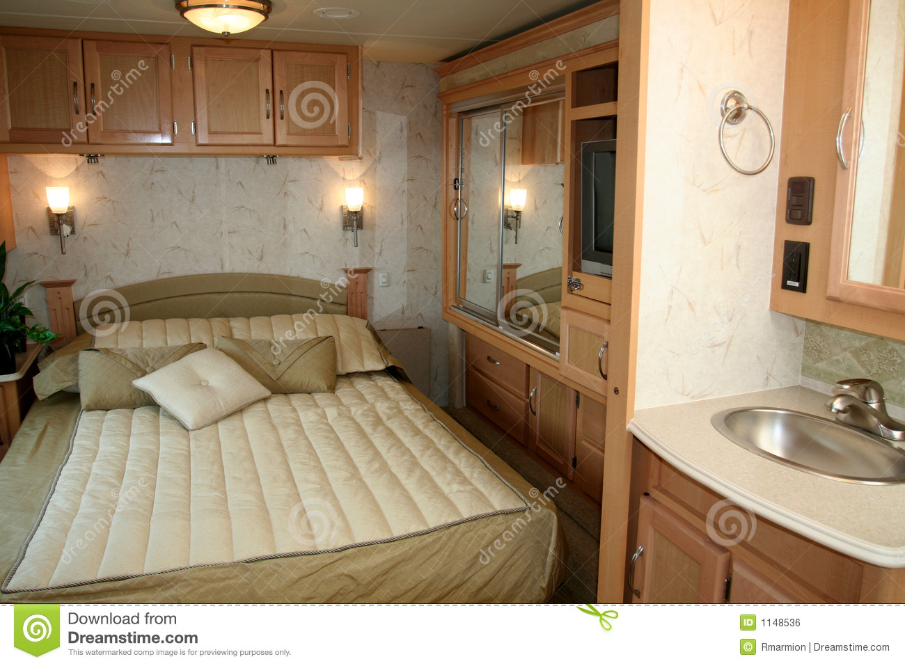 Rv Motorhome Stock Photo Image Of Inside Camper Holiday 1148536