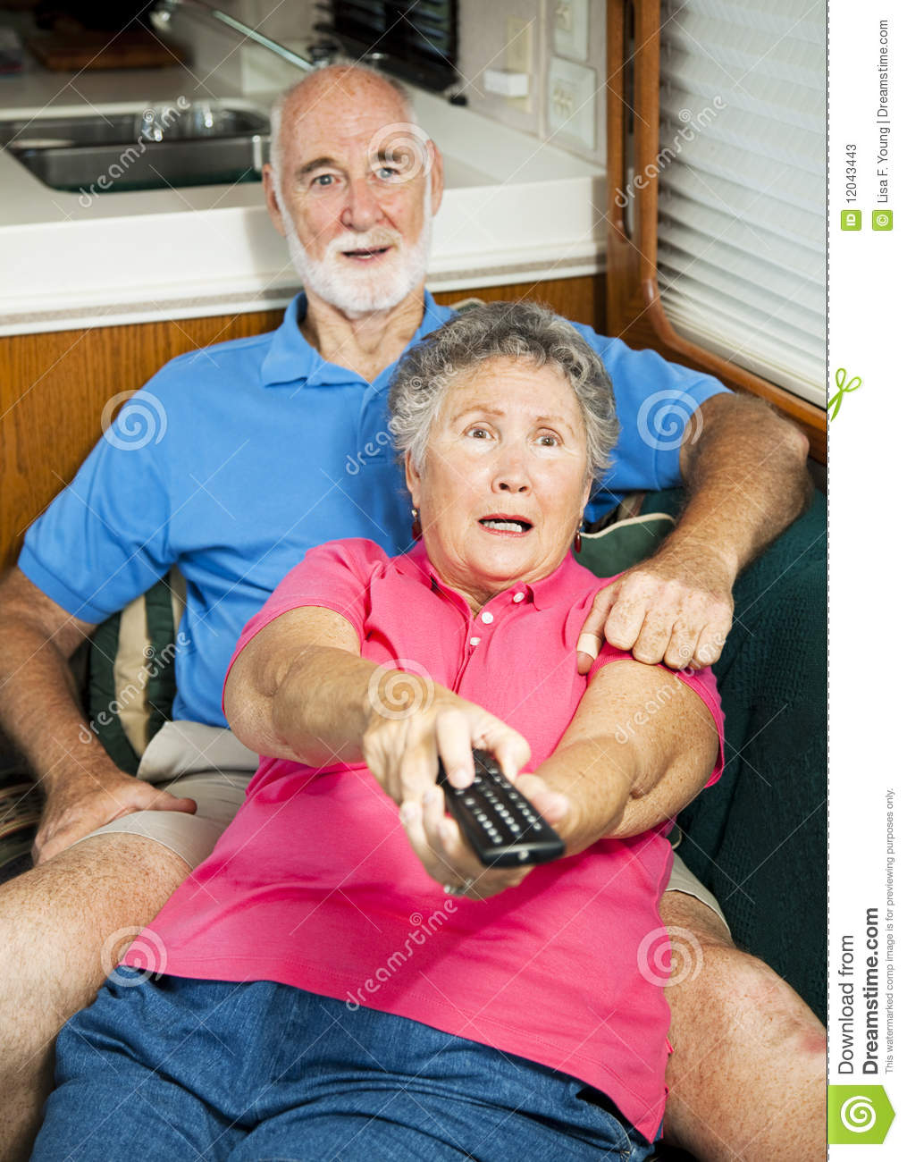 Senior Couple Watching Tv High-Res Stock Photo - Getty Images