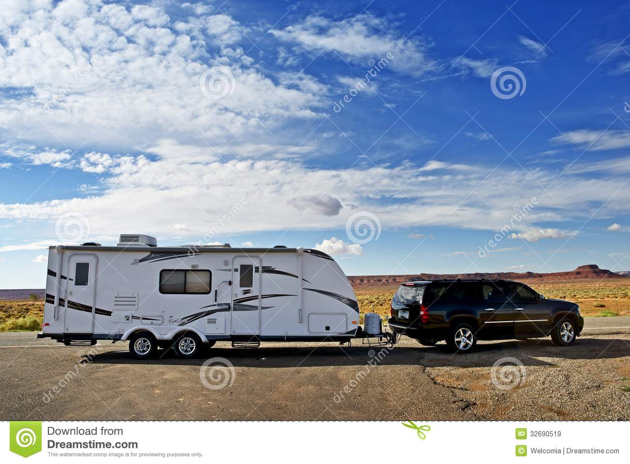 Rv Trailer Journey Royalty Free Stock Images Image 32690519